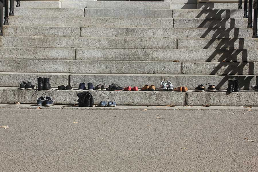 Shoes in steps