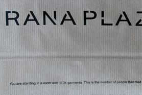 close up of Rana Plaza paper bag